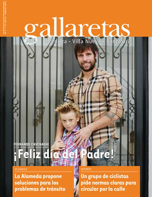 Distinción para Fernando Cavenaghi Revista Gallaretas Nordelta