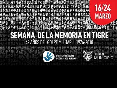 Semana de la Memoria en Tigre