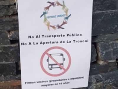 Continúa el conflicto por el transporte en Nordelta