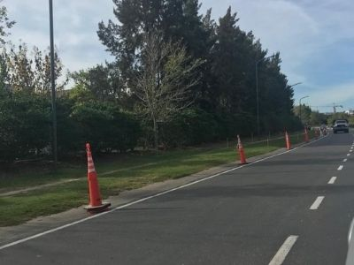 Arrancó la construcción del tercer tramo de la ciclovía en Nordelta