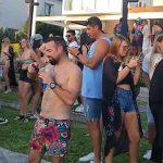 Fiesta clandestina en el Yacht de Nordelta